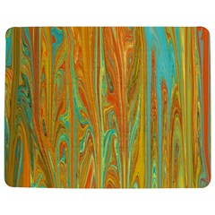 Beautiful Abstract In Orange, Aqua, Gold Jigsaw Puzzle Photo Stand (rectangular) by digitaldivadesigns