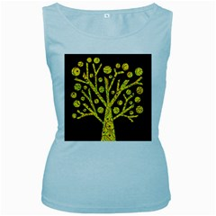 Yellow magical tree Women s Baby Blue Tank Top by Valentinaart