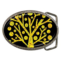 Yellow Magical Tree Belt Buckles by Valentinaart