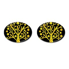 Yellow Magical Tree Cufflinks (oval) by Valentinaart