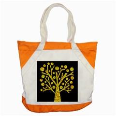 Yellow Magical Tree Accent Tote Bag by Valentinaart