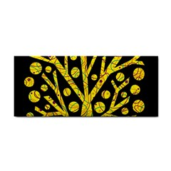 Yellow Magical Tree Hand Towel by Valentinaart
