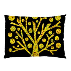 Yellow magical tree Pillow Case by Valentinaart