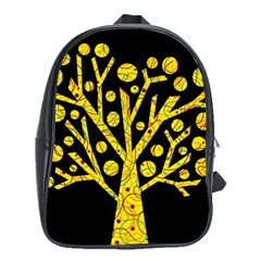 Yellow Magical Tree School Bags(large)  by Valentinaart