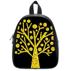 Yellow Magical Tree School Bags (small)  by Valentinaart