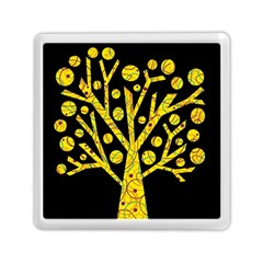 Yellow magical tree Memory Card Reader (Square)