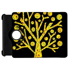 Yellow magical tree Kindle Fire HD Flip 360 Case by Valentinaart