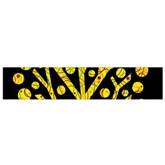 Yellow Magical Tree Flano Scarf (small) by Valentinaart