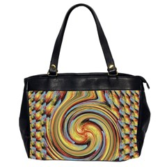 Gold Blue And Red Swirl Pattern Office Handbags (2 Sides)  by digitaldivadesigns