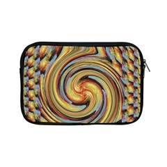 Gold Blue And Red Swirl Pattern Apple Ipad Mini Zipper Cases by theunrulyartist