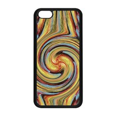 Gold Blue And Red Swirl Pattern Apple Iphone 5c Seamless Case (black) by theunrulyartist