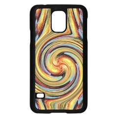 Gold Blue And Red Swirl Pattern Samsung Galaxy S5 Case (black) by theunrulyartist