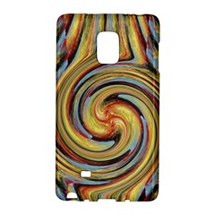 Gold Blue And Red Swirl Pattern Galaxy Note Edge by digitaldivadesigns