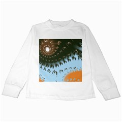 Sun Ray Swirl Design Kids Long Sleeve T Shirts