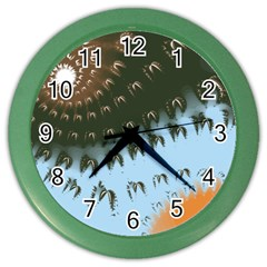 Sun Ray Swirl Design Color Wall Clocks