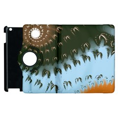 Sun Ray Swirl Design Apple Ipad 3/4 Flip 360 Case by theunrulyartist