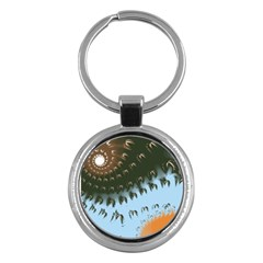 Sun Ray Swirl Design Key Chains (round)