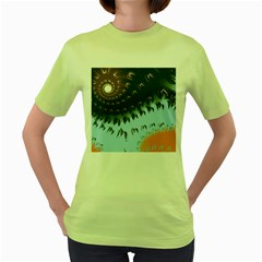 Sunraypil Women s Green T Shirt by theunrulyartist