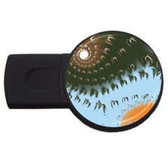 Sun Ray Swirl Pattern Usb Flash Drive Round (2 Gb)  by theunrulyartist