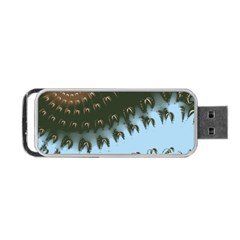 Sun Ray Swirl Pattern Portable Usb Flash (two Sides) by theunrulyartist