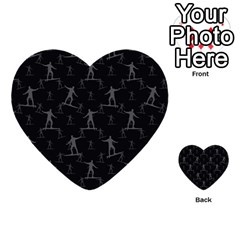 Surfing Motif Pattern Multi Purpose Cards (heart)  by dflcprints