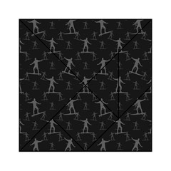 Surfing Motif Pattern Acrylic Tangram Puzzle (6  X 6 ) by dflcprints