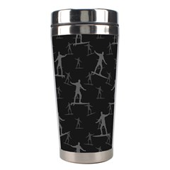 Surfing Motif Pattern Stainless Steel Travel Tumblers by dflcprints