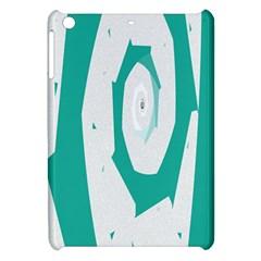 Aqua Blue And White Swirl Design Apple Ipad Mini Hardshell Case by theunrulyartist