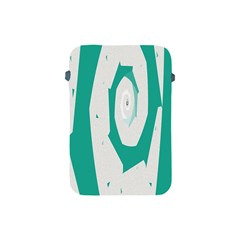 Aqua Blue And White Swirl Design Apple Ipad Mini Protective Soft Cases by theunrulyartist