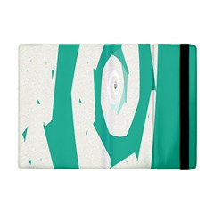 Aqua Blue And White Swirl Design Ipad Mini 2 Flip Cases by theunrulyartist