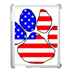 Usa Flag Paw Apple iPad 3/4 Case (White) by TailWags