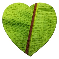 Ensete Leaf Jigsaw Puzzle (heart) by picsaspassion