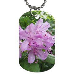 Purple Rhododendron Flower Dog Tag (one Side) by picsaspassion