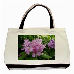 Purple Rhododendron Flower Basic Tote Bag by picsaspassion