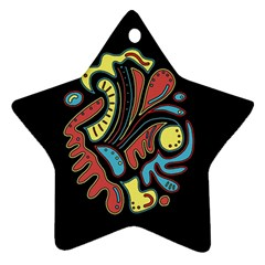 Colorful Abstract Spot Ornament (star)  by Valentinaart