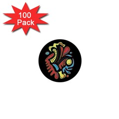 Colorful Abstract Spot 1  Mini Buttons (100 Pack)  by Valentinaart