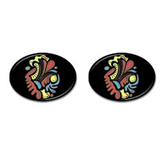 Colorful Abstract Spot Cufflinks (oval) by Valentinaart