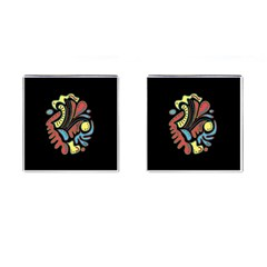 Colorful Abstract Spot Cufflinks (square) by Valentinaart