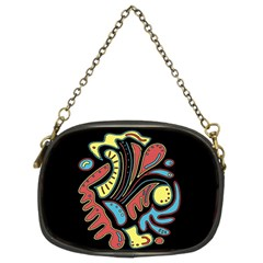 Colorful Abstract Spot Chain Purses (two Sides)  by Valentinaart