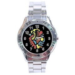 Colorful Abstract Spot Stainless Steel Analogue Watch by Valentinaart
