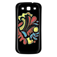 Colorful Abstract Spot Samsung Galaxy S3 Back Case (black) by Valentinaart