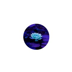 Lotus Flower Magical Colors Purple Blue Turquoise 1  Mini Buttons by yoursparklingshop