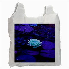 Lotus Flower Magical Colors Purple Blue Turquoise Recycle Bag (one Side) by yoursparklingshop
