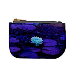 Lotus Flower Magical Colors Purple Blue Turquoise Mini Coin Purses by yoursparklingshop