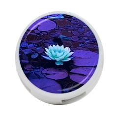 Lotus Flower Magical Colors Purple Blue Turquoise 4 Port Usb Hub (two Sides)  by yoursparklingshop