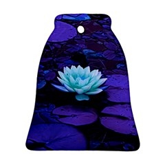 Lotus Flower Magical Colors Purple Blue Turquoise Bell Ornament (2 Sides) by yoursparklingshop