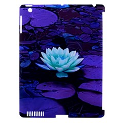 Lotus Flower Magical Colors Purple Blue Turquoise Apple Ipad 3/4 Hardshell Case (compatible With Smart Cover) by yoursparklingshop