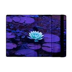Lotus Flower Magical Colors Purple Blue Turquoise Apple Ipad Mini Flip Case by yoursparklingshop