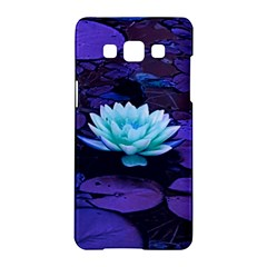 Lotus Flower Magical Colors Purple Blue Turquoise Samsung Galaxy A5 Hardshell Case  by yoursparklingshop