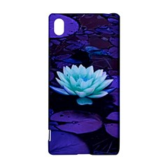 Lotus Flower Magical Colors Purple Blue Turquoise Sony Xperia Z3+ by yoursparklingshop